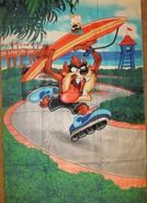 New Licensed Taz Tasmanian Devil Beach Bath Pool Towel Looney Tunes Gift NIP NWT