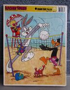 LOONEY TUNES tray puzzle Bugs Bunny volleyball Daffy Duck kids jigsaw Tweety