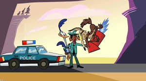 File:Wile E. Coyote and Road Runner Both Get Arrested MAD.png