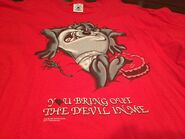 Vintage Taz 90s Men's XL T-Shirt Hearts Tazmanian Devil Valentines 1997 Red