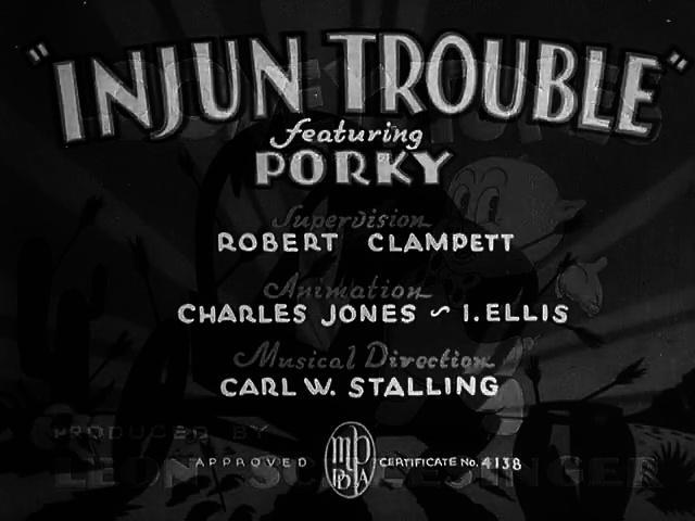 Porky Pig - Injun Trouble (1938)