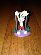 Vintage Warner Bros Looney Tunes Bugs Bunny gym work out weight lifter figure