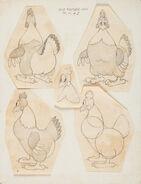 Old mother hen model sheet
