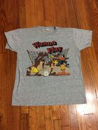 Vintage Looney Toons Shirt Sz L Taz Donald Duck Wiley Coyote 1989