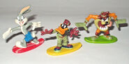 6 X LOONEY TUNES MINI FIGURINE COLLECTION CAKE TOPPERS TAZ BUGS DAFFY SYLVESTER