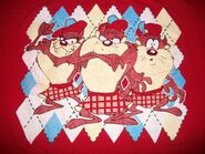 Tasmanian Devil TAZ T tee Shirt 2XL XXL 1995 Looney Tunes Scottish Golf