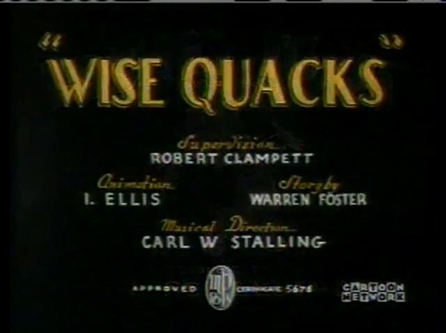 Wise Quacks (1939) Computer-Colorized