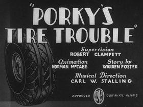 Porky's Tire Trouble