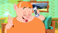 Porky in Peach Costume