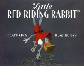 Little red riding rabbit title card