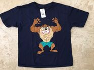 NEW Looney Tunes Boys Taz Tasmanian Devil Graphic T Shirt Navy Size XS