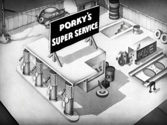 Porky Pig - Porky's Super Service (1937)