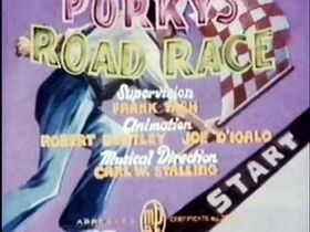 Porky's Road Race (1937) Redrawn Colorized