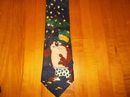 -TAX CARTOON -GOLF LOONEY TUNES NOVELTY POLYESTER TIE 1996