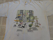 Vtg 1993 LOONEY TUNES sports T-SHIRT XL taz marvin bugs bunny daffy 90s cartoon (Front)