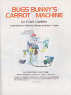 Bugs Bunny Carrot Machine - Title Page - 89 cent no 110-33