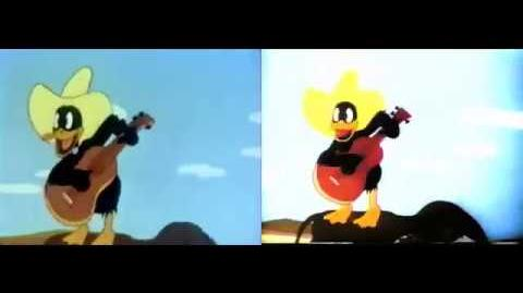 The Daffy Duckaroo - Colorized Version Comparation