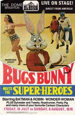 Bugs meets the superheroes