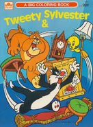 Lt coloring golden big coloring book tweety and sylvester