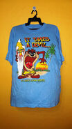 Vintage 80's Hawaii surf Tasmanian Devil To Surf Down under large size
