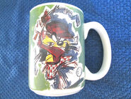 WB STUDIO STORE TAZ DEVIL GOLF LOGO COFFEE MUG CUP 1995 QUICK SHIPPER
