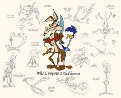 File:LooneyTunes Wile E Coyote & Road Runner Model Sheet.jpg