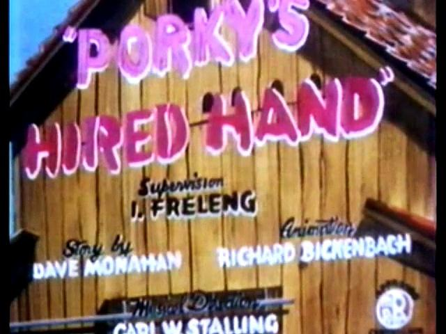 Porky's Hired Hand (1940) Redrawn Colorized