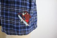 NEW Looney Tunes Skateboarding Tasmanian Devil Men's Plaid Boxer Trunk Size M