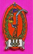 ROAD RUNNER PIN-GOLD MEDAL PIN- LOONEY TUNES PIN-1996 OLYMPIC USA PIN