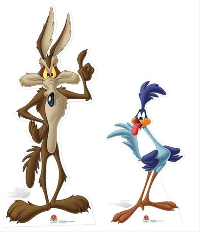 File:Wile E Coyote and Road Runner Looney Tunes set cardboard cutout buy now at starstills 59247.1404454945.1280.1280.jpg