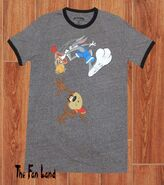 New Looney Tunes Bugs Bunny Taz Slam Ringer Mens T-Shirt
