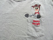 Vintage Taz Tasmanian Devil Pocket Tee T Shirt Warner Brothers
