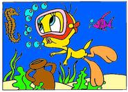 Tweety Bird Underwater Coloring
