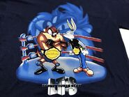 VTG Looney Tunes Slam Men T-Shirt Large Bugs Bunny Taz Wrestling
