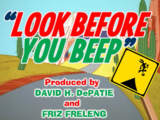 Look Before You Beep