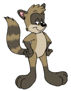 Rigby in looney tunes art style