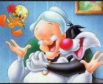 Tweety granny sylvester toon