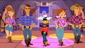 Daffy line dancing
