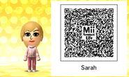 Mii Tomodachi Life QR Sarah Doover