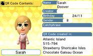 Sarah Doover QR Code Contents