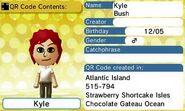 Kyle Bush QR Code Contents