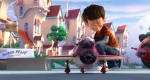 Ted con avión