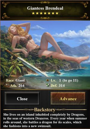 Giantess Brendeal (Level 1)