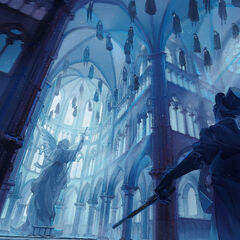 Klein enters the cathedral in Foggy Town by <a rel=