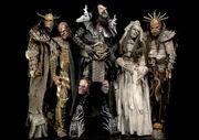 "Lordi in their ""Deadache"" costumes."