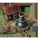 Building iron furnace