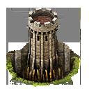 Wall tower fallgrube