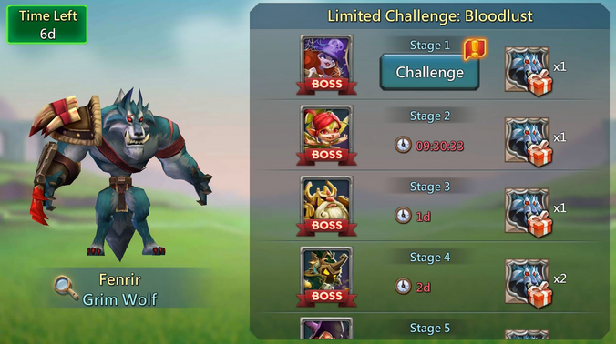 Limited Challenge Bloodlust