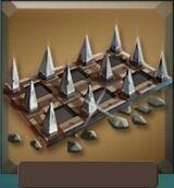 Metal spikes