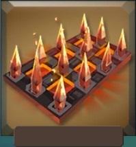 Burning spikes